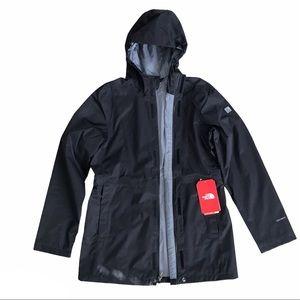 NWT North Face Girl's Laney Rain Jacket Black XL